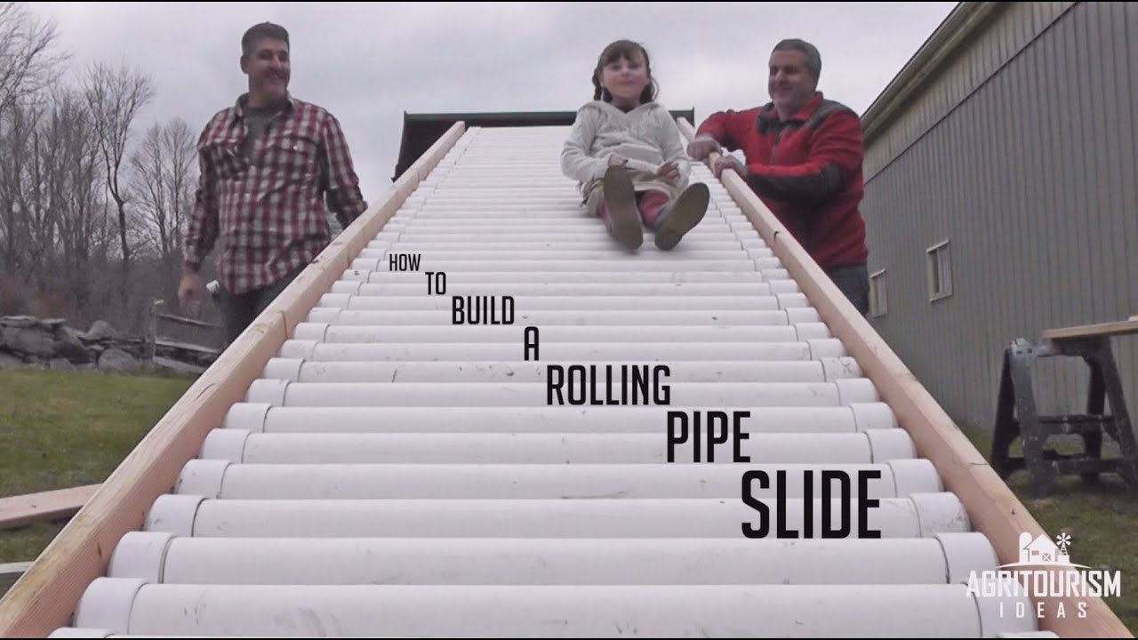 How To Build A Rolling Pipe Slide Youtube
