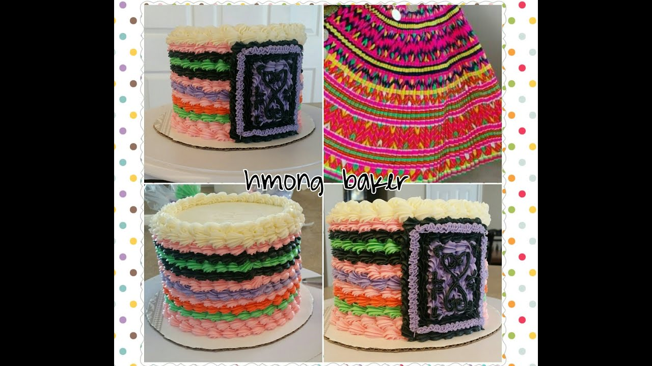 White Wedding On Youtube: HMONG CAKE. Hmong Inspired Dress Cake. Cake Decorating