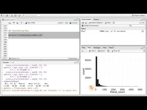 Transforming Data - Data Analysis with R