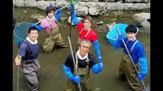 『池の水ぜんぶ抜く』寺島進が高知城のお堀で番組初の巨大魚を捕獲: htt...