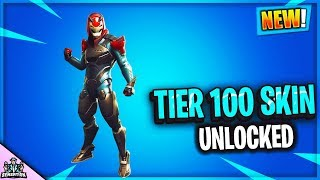 *OMG* UNLOCKING TIER 100 SKIN IN FORTNITE BATTLE ROYALE