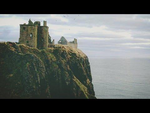 Aberdeen Trip (Scotland) p.2 Dunnotar Castle, Sea, River behind RGUniversity