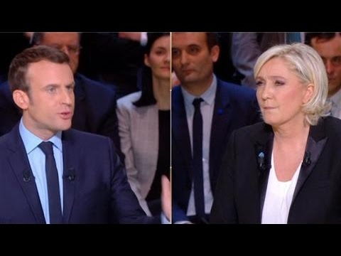 French Election: Le Pen and Macron Spar in First TV Debate