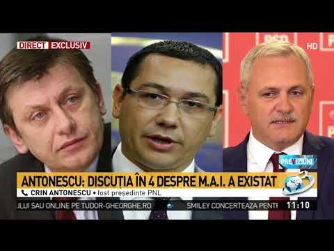"""Crin Antonescu: """"Victor Ponta nu avea încredere în Liviu Dragnea"""""""