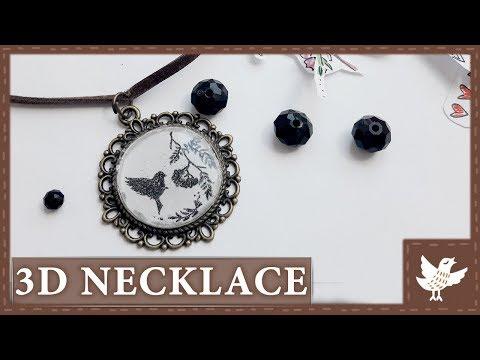 DIY || 3D Necklace || Easy Epoxy Resin Tutorial