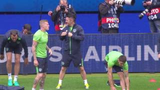 Republic of Ireland training at the Stade de France - 12.06