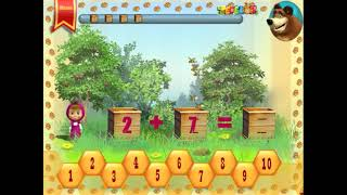 Маша и медведь Подготовка к школе Сложение Часть 2 - учимся считать. Обучающая игра для детей