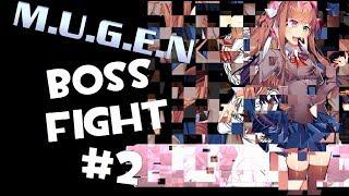 M.U.G.E.N. DDLC: Monika Boss Fight   Taking Damage + Phase 2