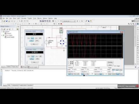 AC to DC conversion -simulation and graph