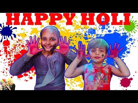 Holi Celebration 2018 || Colors for Kids || HOLI CARTOON SONG