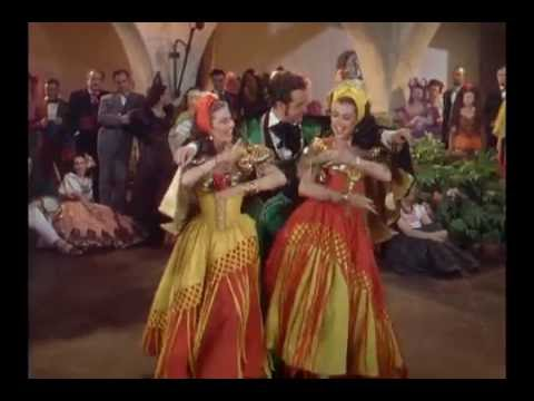 """Ann Miller, Cyd Charisse, and Ricardo Montalban - """"Dance Of Fury"""" from The Kissing Bandit (1948)"""