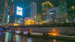 [4K HDR] Night Walk in Seoul Jongno District and City Hall - Korea Walking Tour 서울 밤산책 종로 광화문과 시청 걷기
