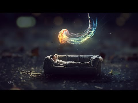Fantasy Glowing Jellyfish Miniature Photo Effect Photoshop Tutorial