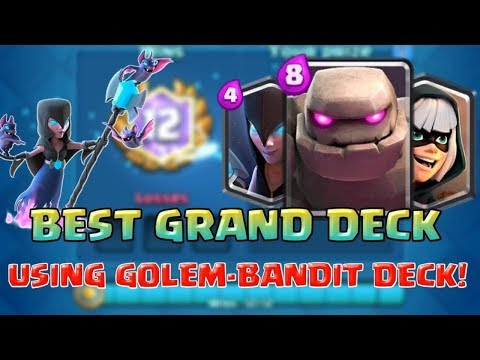 EASY 12 WIN GRAND CHALLENGE WITH GOLEM NIGHT WITCH DECK !!!