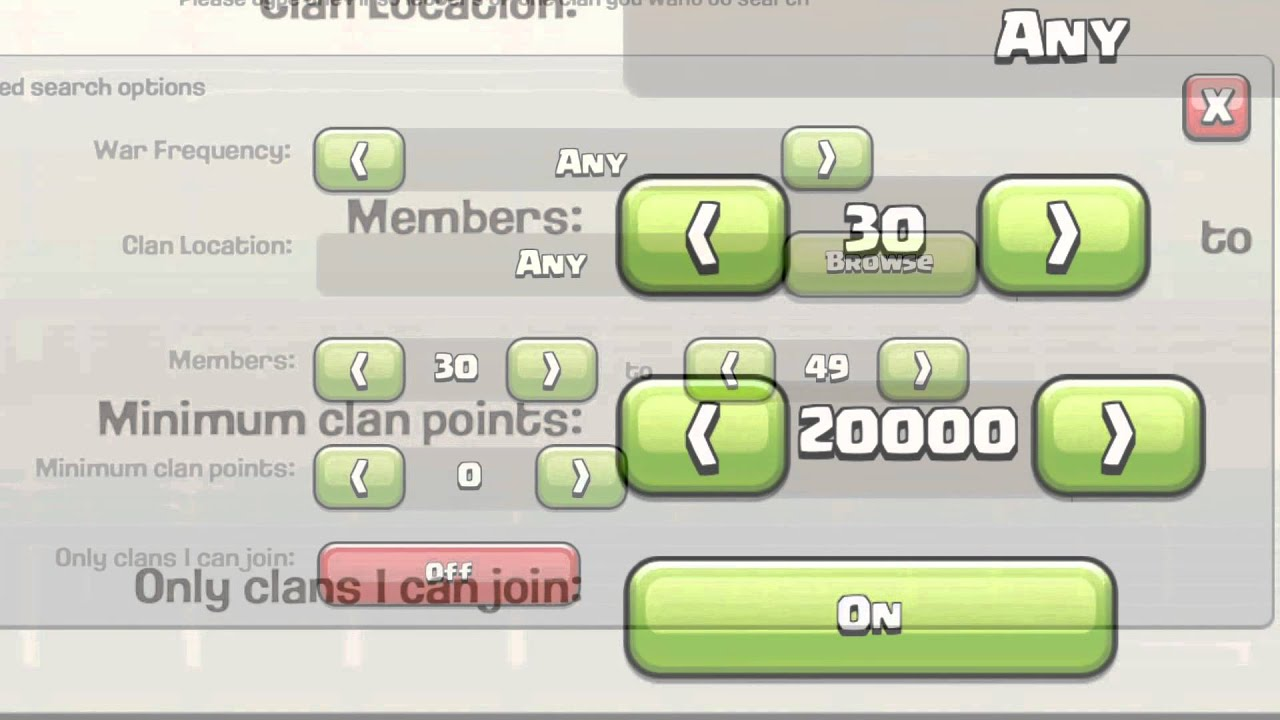 How to Use the Advanced Search Options to Find a Clan in Clash of Clans