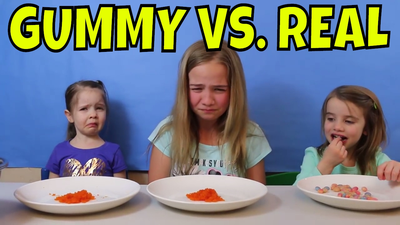 Gummy Food Vs Real Food Challenge Gross Food Youtube