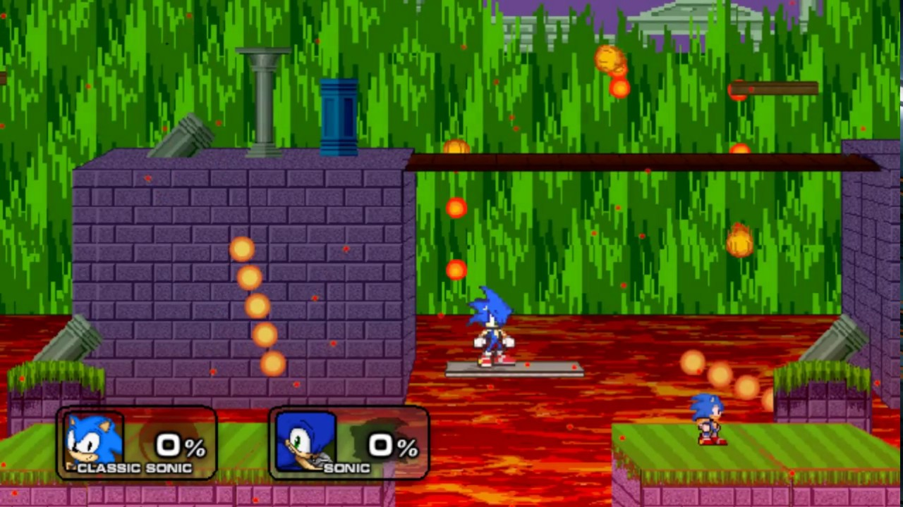 How About Round 2? Classic Sonic Vs Modern Sonic SSF2 Mod Gameplay