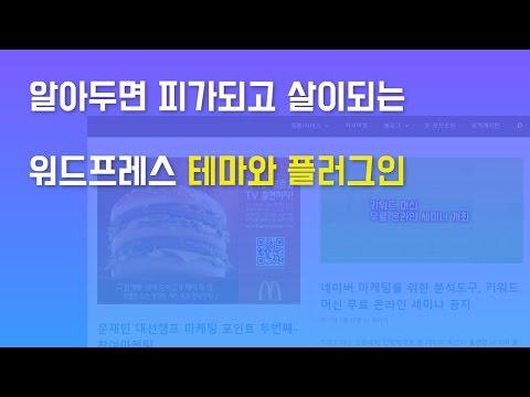 지금 사용하는 워드프레스 테마와 플러그인 대공개