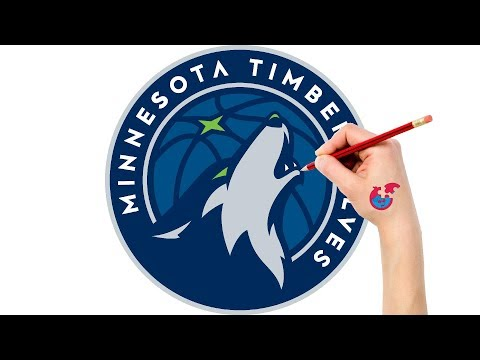Fast Drawing And Coloring For Toddlers - NBA Minnesota Timberwolves - Puzzle Kid