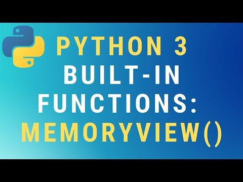 Python 3 memoryview() built-in function TUTORIAL thumbnail