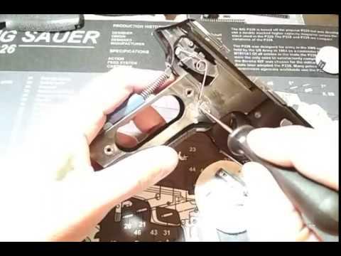 Sig Sauer P226 - замена кнопки сброса магазина с пружинами