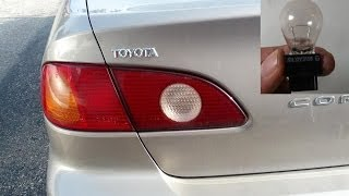 Change Tail, Back or Indicator Light Bulb - Toyota Corolla