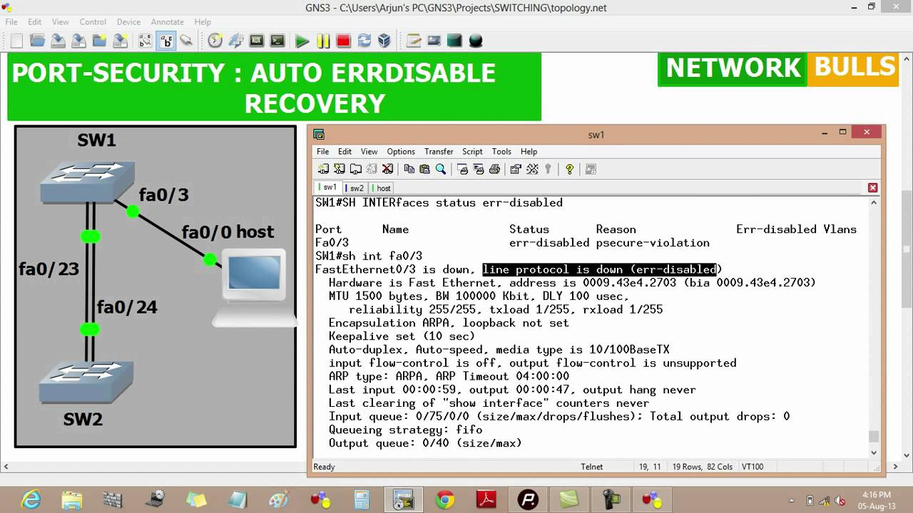 Port Security - Auto Err-disable Recovery Configuration - Cisco CCNP R&S  Level by NB