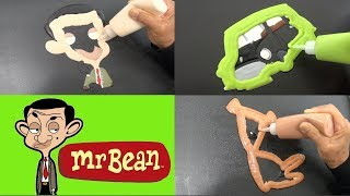 Mr Bean Cartoon Pancake Art - Mr Bean, Mini Car, Teddy