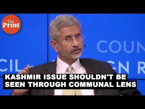 Kashmir issue shouldn't be seen through a communal lens: S Jaishankar