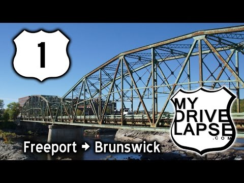 Driving US 1 in Maine: Freeport (LL Bean!) to Brunswick