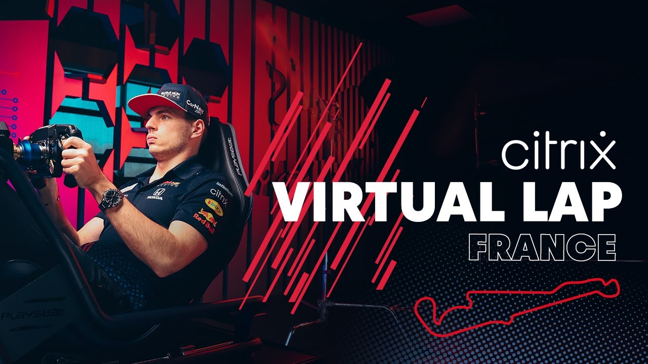 @Citrix Virtual Lap: Max Verstappen laps the French Grand Prix