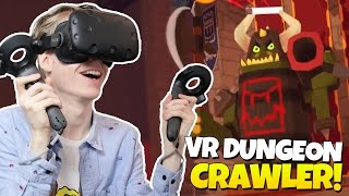 VIRTUAL REALITY DUNGEON CRAWL! | Rec Room: VR Quest (HTC Vive Gameplay)