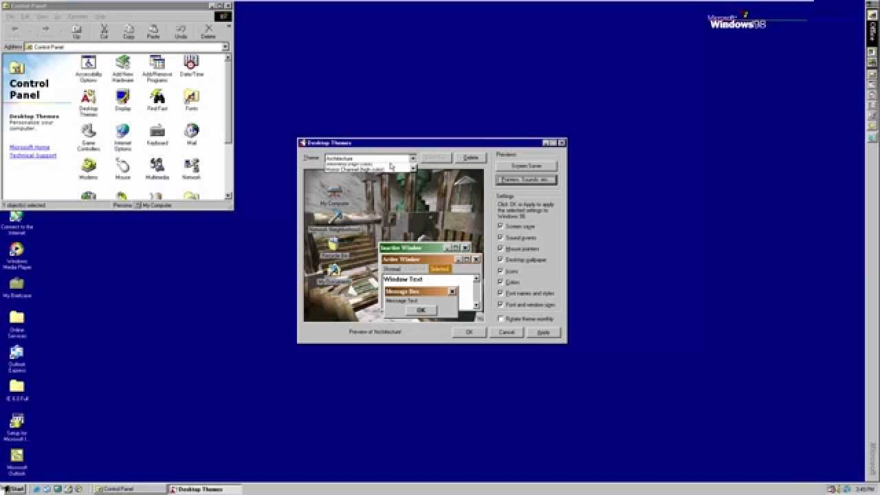 Windows 98 SE (with Plus!) in VMware Workstation 12 0 (full 1080p)
