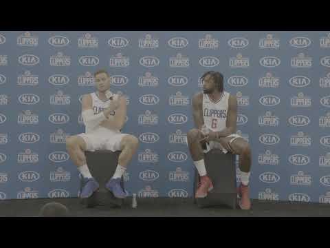 Blake Griffin & DeAndre Jordan | Media Day Press Conference 2017