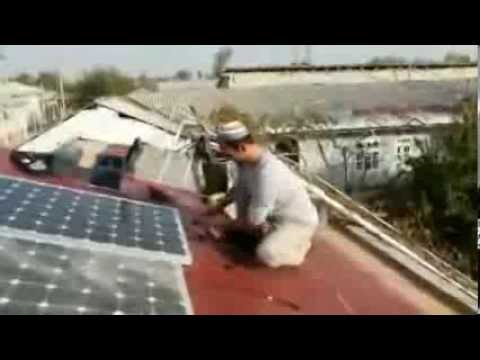 Installation of solar panels. Private household's initiative and experience in Uzbekistan.