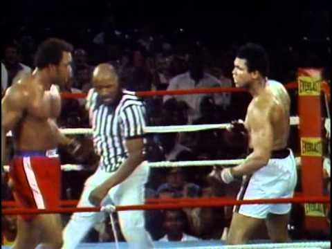 George Foreman vs Muhammad Ali - Oct. 30, 1974  - Entire fight - Rounds 1 - 8 & Interview