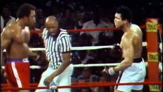 Repeat youtube video George Foreman vs Muhammad Ali - Oct. 30, 1974  - Entire fight - Rounds 1 - 8 & Interview