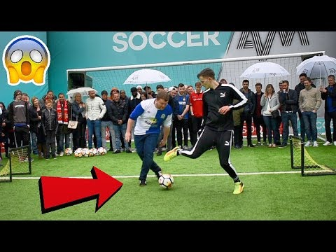 CAN I NUTMEG FOOTBALL FANS LIVE ON TV !? (SOCCER AM) *CRAZY REACTIONS*