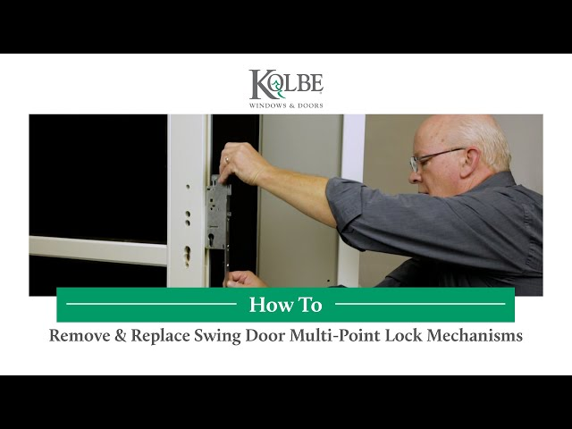 Remove & Replace Swing Door Multi-Point Lock Mechanisms