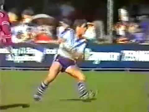 John Elias sets up try for Terry Lamb 1986 Canterbury v Manly
