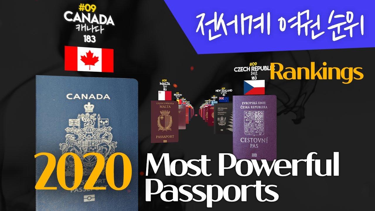 2020 전세계 여권 순위 | 우리나라는 어디쯤?