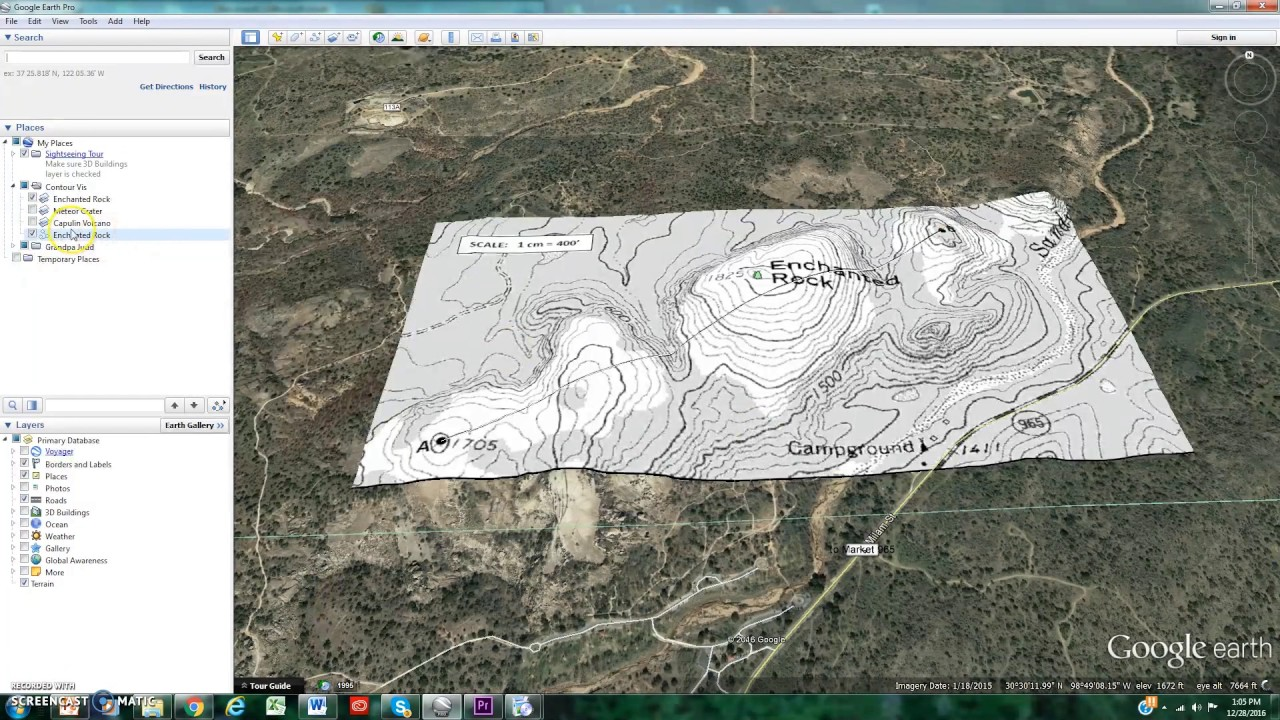Visualizing Contour Topographic Maps In Google Earth YouTube - Google maps topo