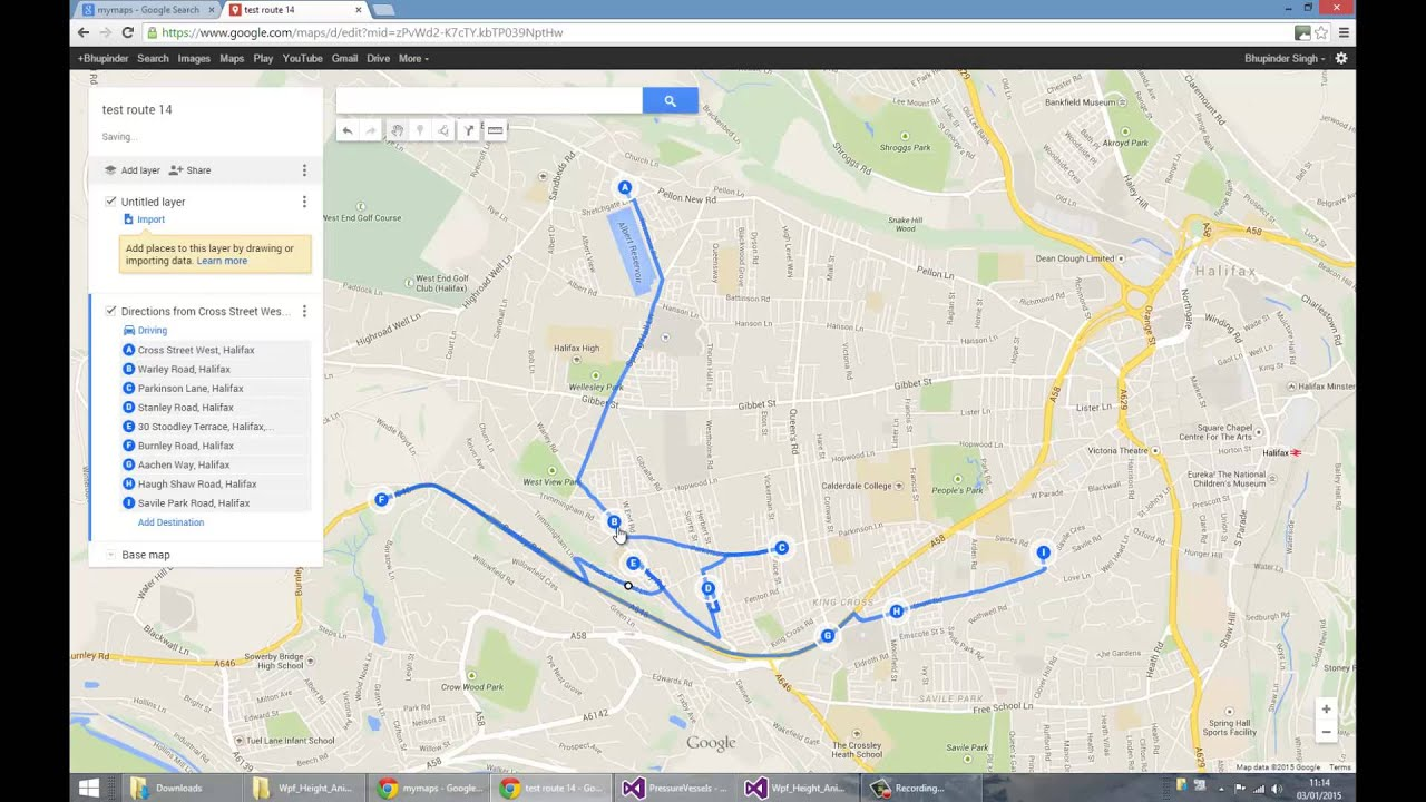 How to Create Driving Test Routes using My Maps Halifax YouTube – Map Driving Route