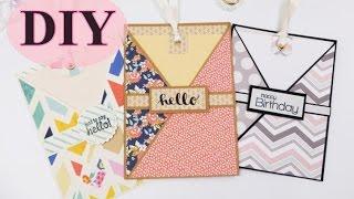 Karten selber basteln - DIY - Cards - Bastelanleitung - Basteln Tutorial