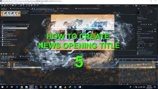 Oluşturma Adobe After Effects - Haber Açılış Başlığı Bölüm 5