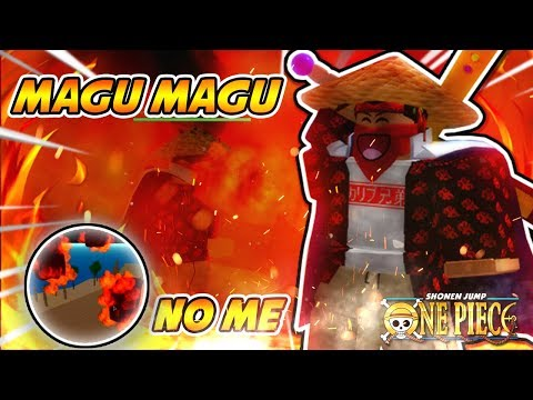 NEW ONE PIECE GAME! MAGU MAGU / MAGMA DEVIL FRUIT SHOWCASE (THE BEST DF IN GAME!)   One Piece Wrath