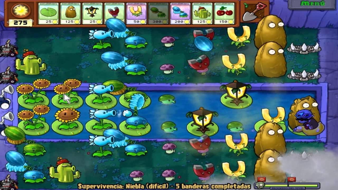 Juegos De Plants Vs Zombies Piscina