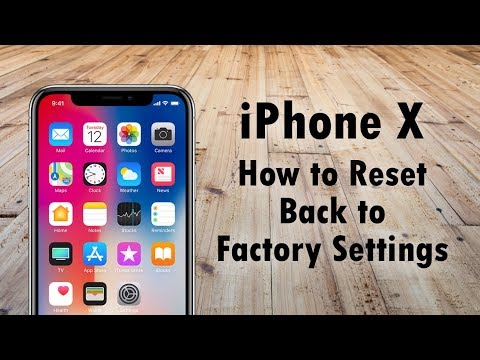 IPhone X How To Reset Back To Factory Settings