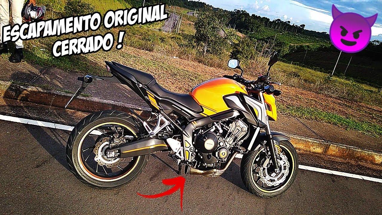 CB 650F COM O ESCAPAMENTO ORIGINAL CERRADO (so o cano) SNORING EXHAUST