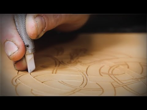 Leather Carving Tutorial - Viking Style #2